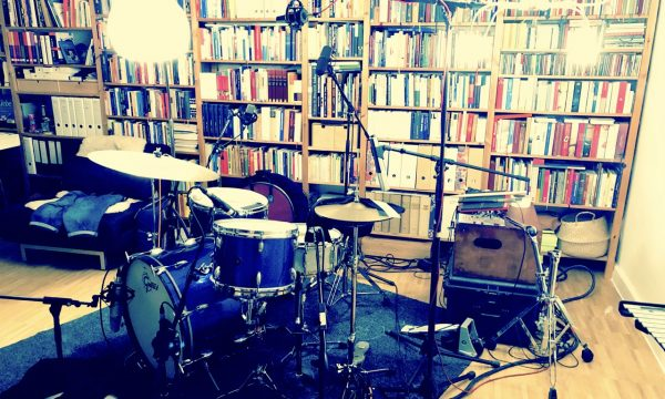 Drumset in Ben's Studio
